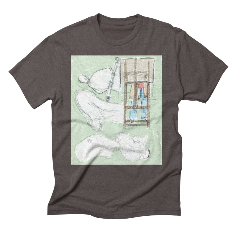 Artist behind artist easel Men's Triblend T-Shirt by hrbr's Artist Shop