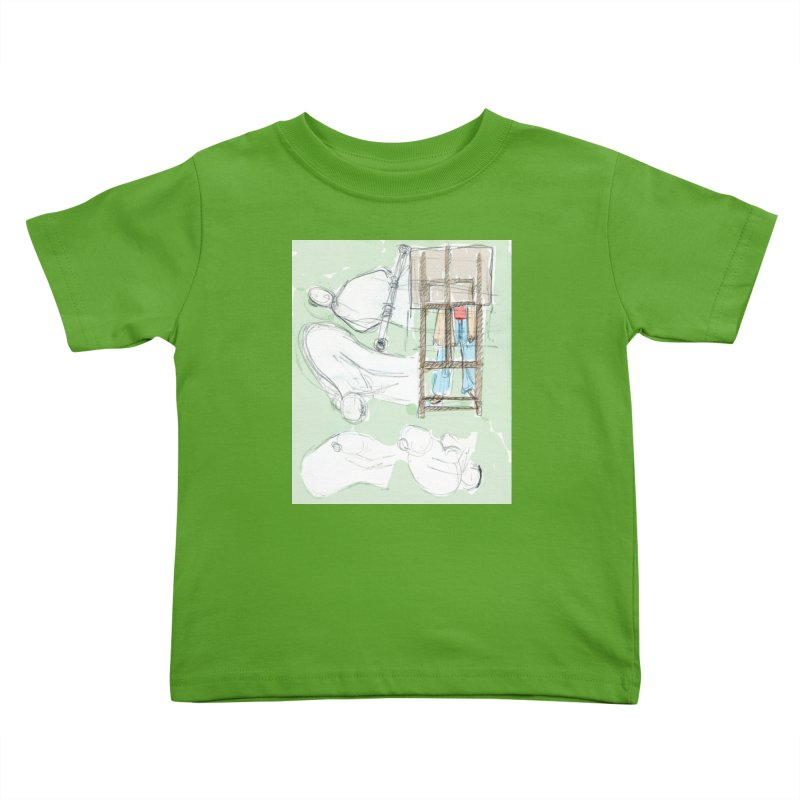 Artist behind artist easel Kids Toddler T-Shirt by hrbr's Artist Shop