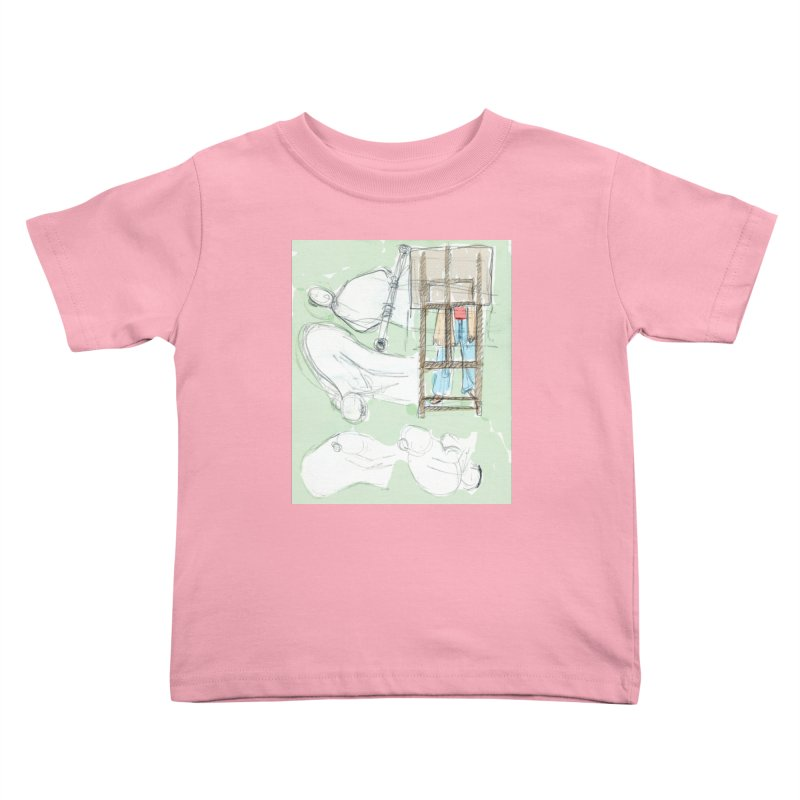 Artist behind artist easel Kids Toddler T-Shirt by hrbr's Artist Shop