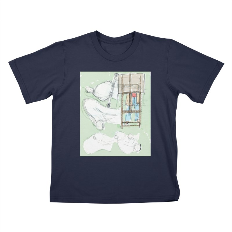 Artist behind artist easel Kids T-Shirt by hrbr's Artist Shop