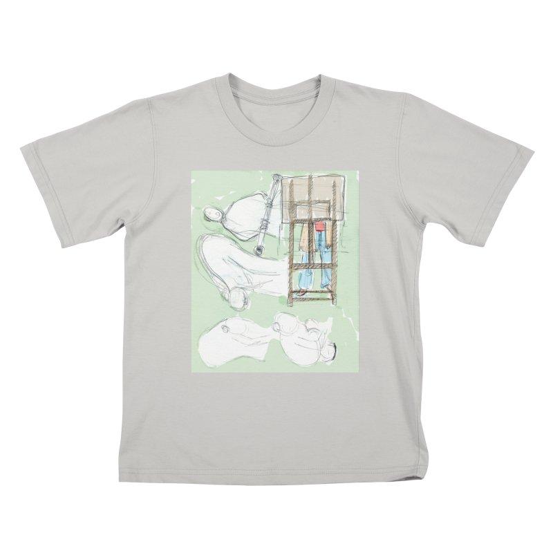 Artist behind artist easel Kids T-shirt by hrbr's Artist Shop