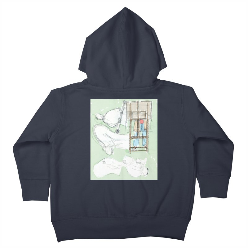 Artist behind artist easel Kids Toddler Zip-Up Hoody by hrbr's Artist Shop