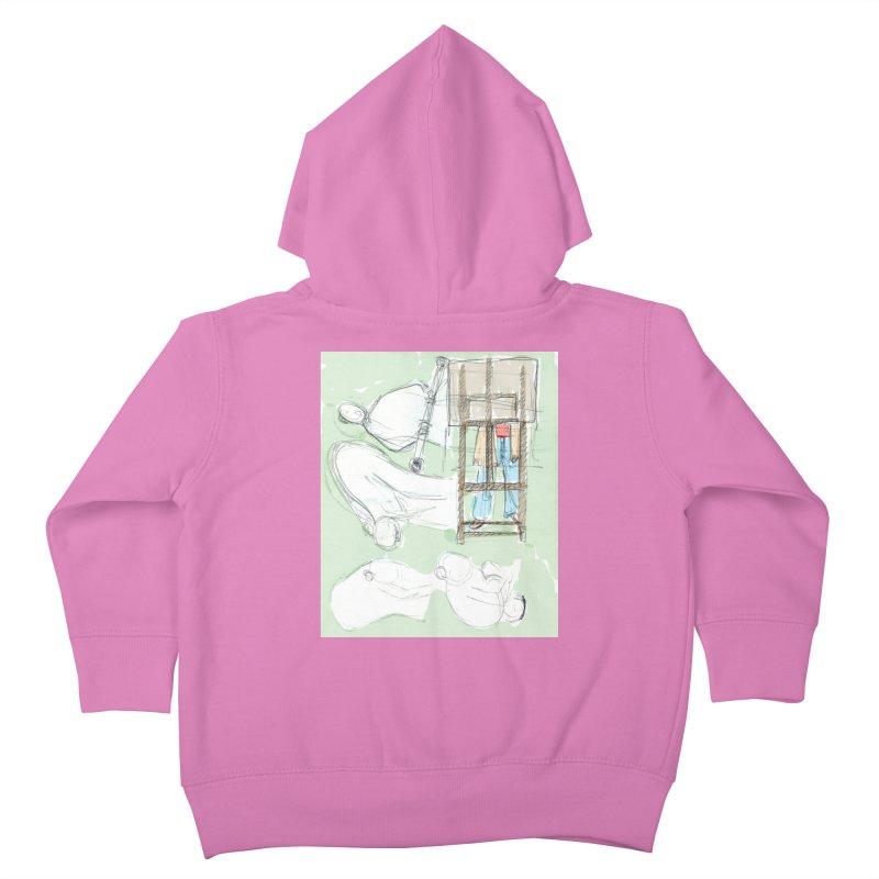 Artist behind artist easel Kids Toddler Zip-Up Hoody by hrbr's Artist Shop