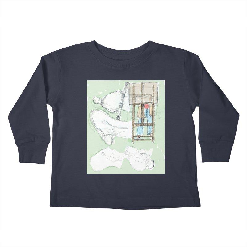 Artist behind artist easel Kids Toddler Longsleeve T-Shirt by hrbr's Artist Shop