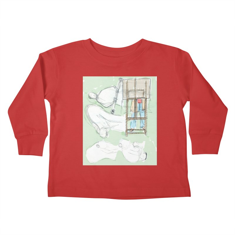 Artist behind artist easel Kids Toddler Longsleeve T-Shirt by hrbr's Artist Shop