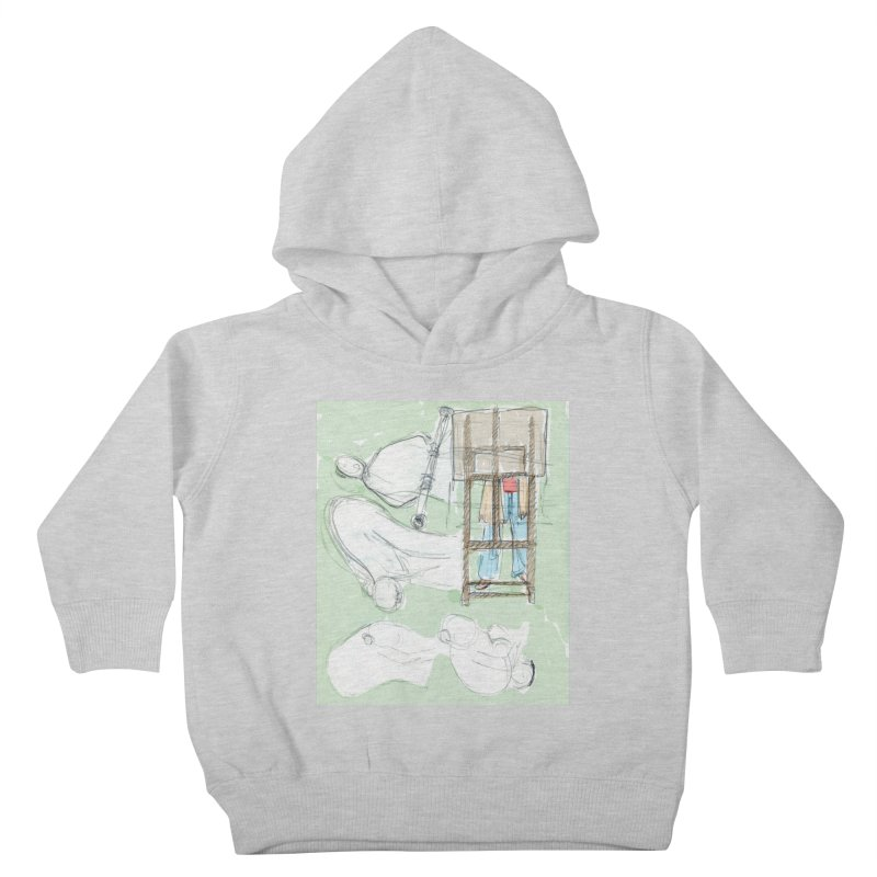 Artist behind artist easel Kids Toddler Pullover Hoody by hrbr's Artist Shop