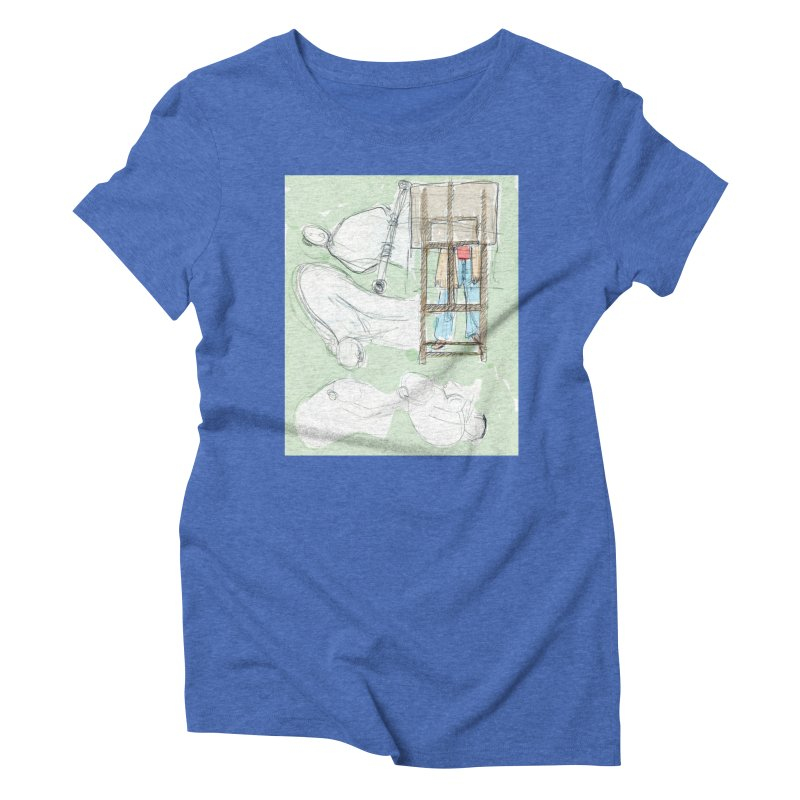 Artist behind artist easel Women's Triblend T-Shirt by hrbr's Artist Shop