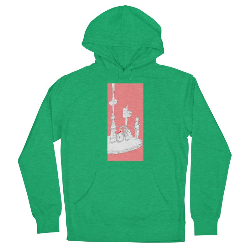 Bike Women's French Terry Pullover Hoody by hrbr's Artist Shop