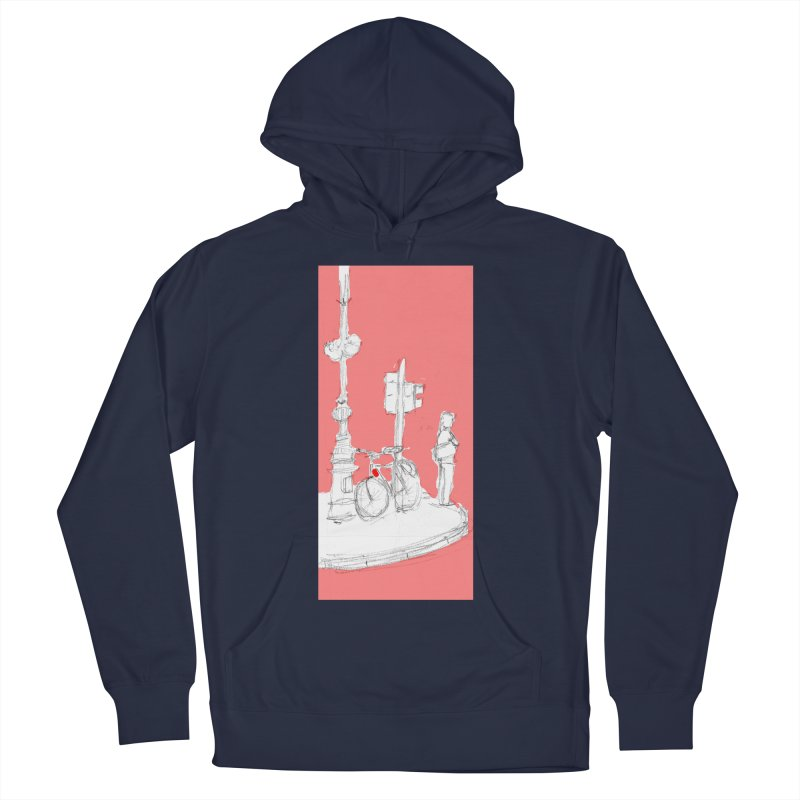 Bike Men's French Terry Pullover Hoody by hrbr's Artist Shop