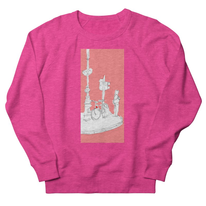Bike Men's French Terry Sweatshirt by hrbr's Artist Shop