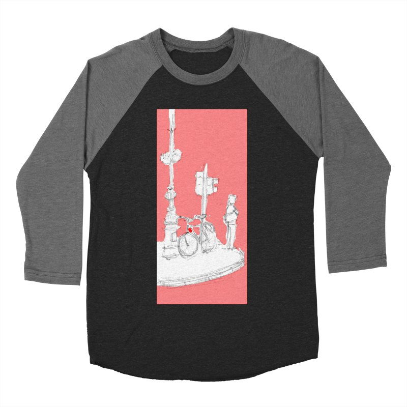 Bike Men's Baseball Triblend T-Shirt by hrbr's Artist Shop