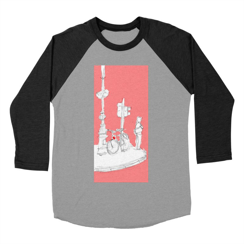 Bike Men's Baseball Triblend Longsleeve T-Shirt by hrbr's Artist Shop