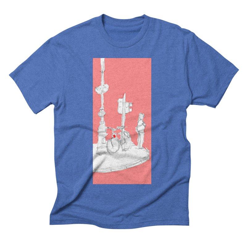 Bike Men's Triblend T-shirt by hrbr's Artist Shop