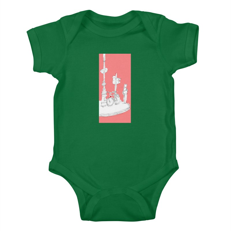 Bike Kids Baby Bodysuit by hrbr's Artist Shop