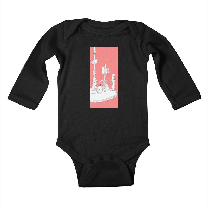 Bike Kids Baby Longsleeve Bodysuit by hrbr's Artist Shop