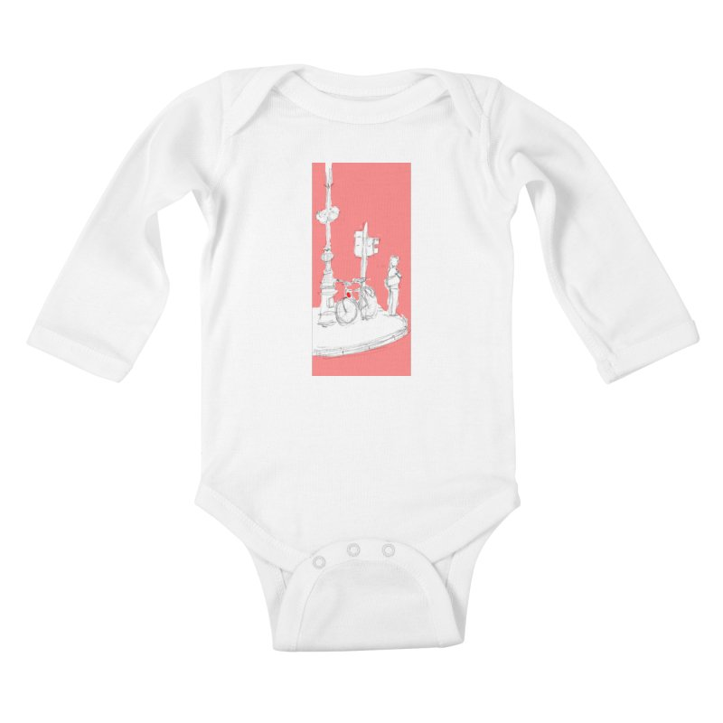 Bike Kids Baby Longsleeve Bodysuit by hrbr's Artist Shop