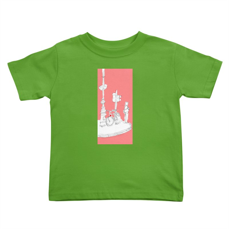 Bike Kids Toddler T-Shirt by hrbr's Artist Shop