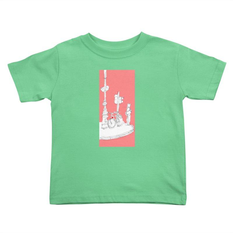 Bike Kids Toddler T-Shirt by hrbr's Artist Shop