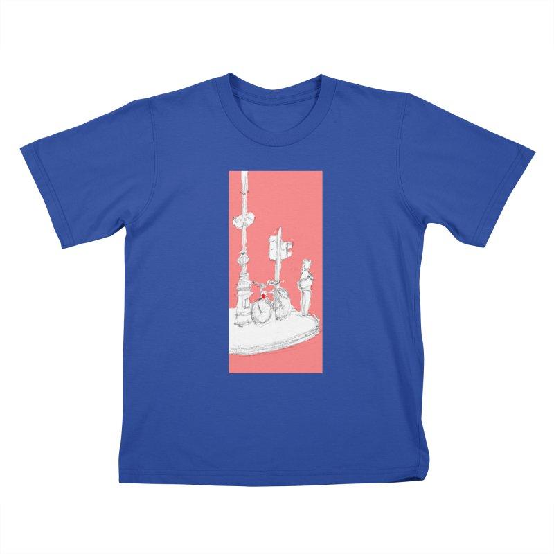 Bike Kids T-Shirt by hrbr's Artist Shop
