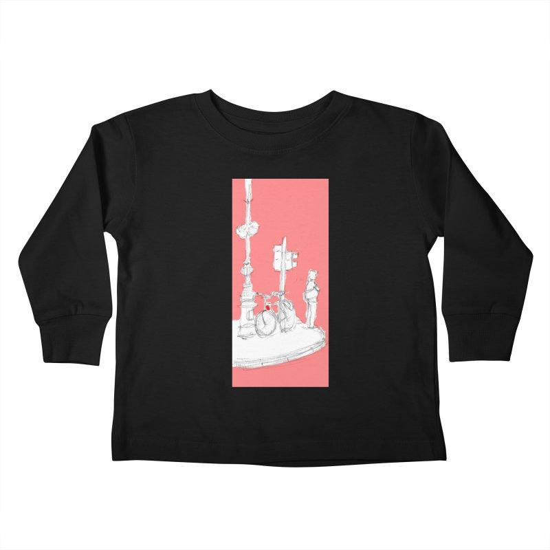 Bike Kids Toddler Longsleeve T-Shirt by hrbr's Artist Shop