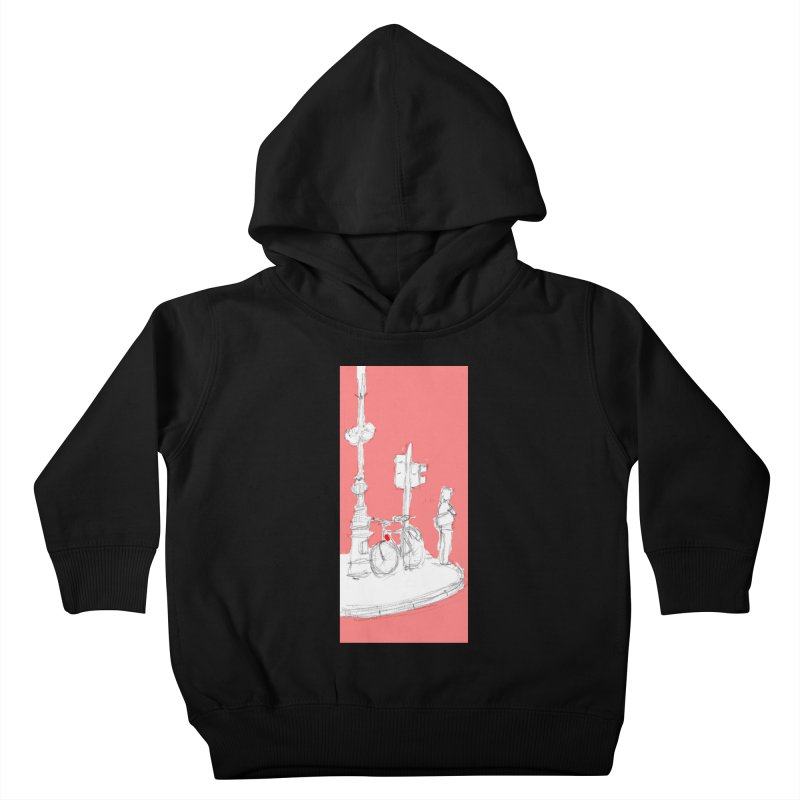 Bike Kids Toddler Pullover Hoody by hrbr's Artist Shop