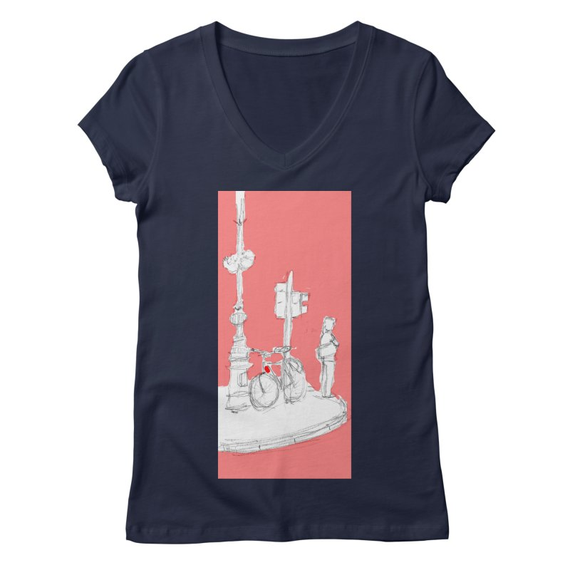 Bike Women's V-Neck by hrbr's Artist Shop