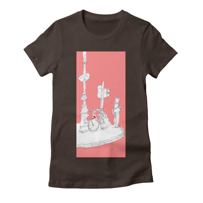 Bike Women's Fitted T-Shirt by hrbr's Artist Shop