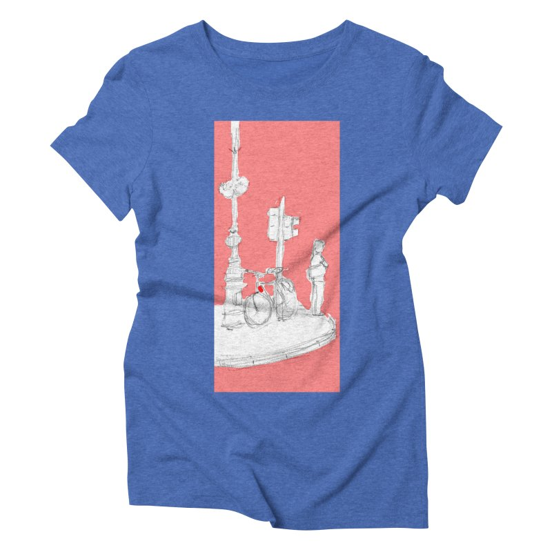 Bike Women's Triblend T-Shirt by hrbr's Artist Shop