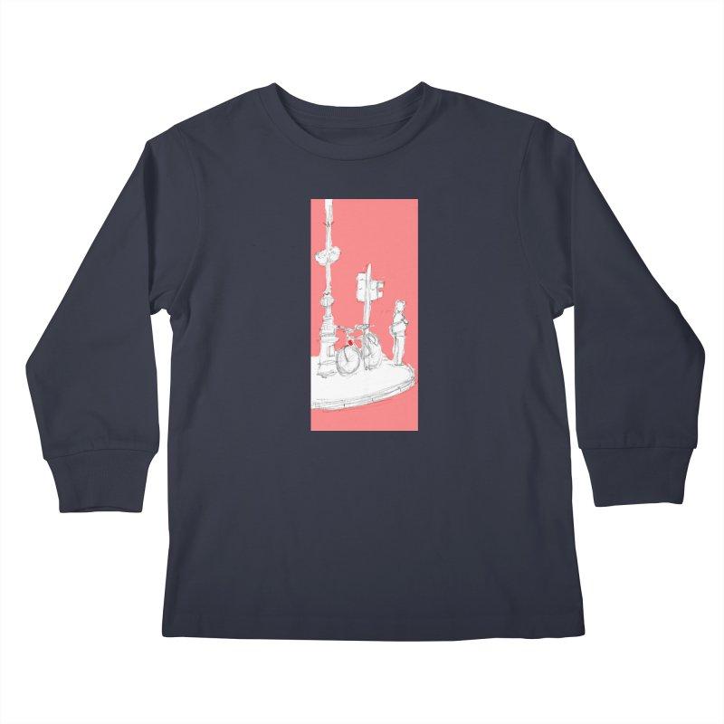 Bike Kids Longsleeve T-Shirt by hrbr's Artist Shop
