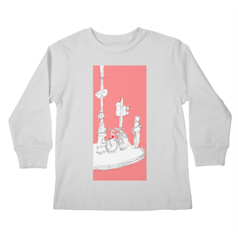 Bike Kids Longsleeve T-Shirt by hrbr's Artist Shop