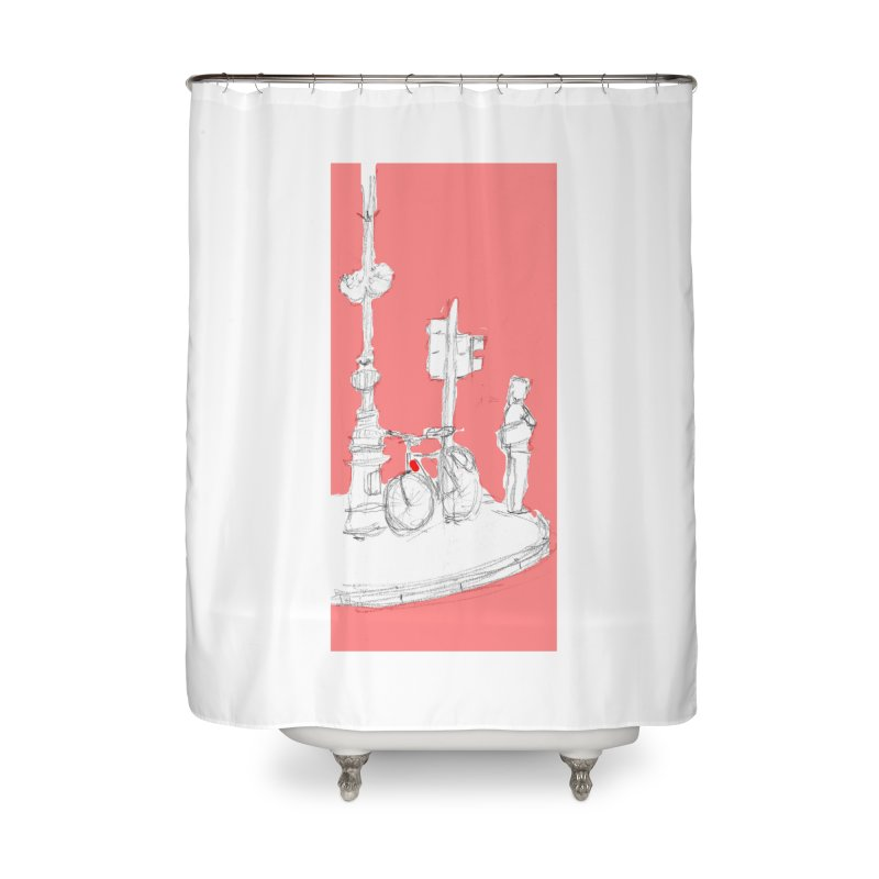 Bike Home Shower Curtain by hrbr's Artist Shop