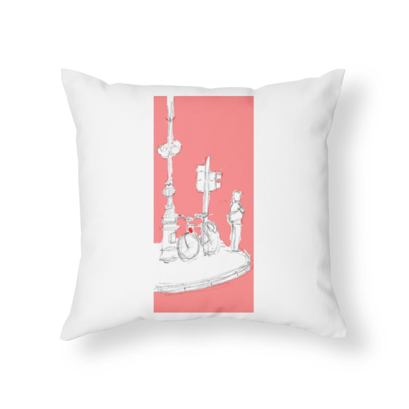 Bike Home Throw Pillow by hrbr's Artist Shop