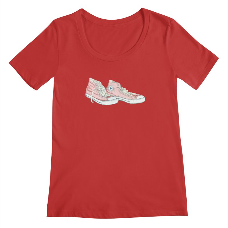 All Star Women's Scoopneck by hrbr's Artist Shop