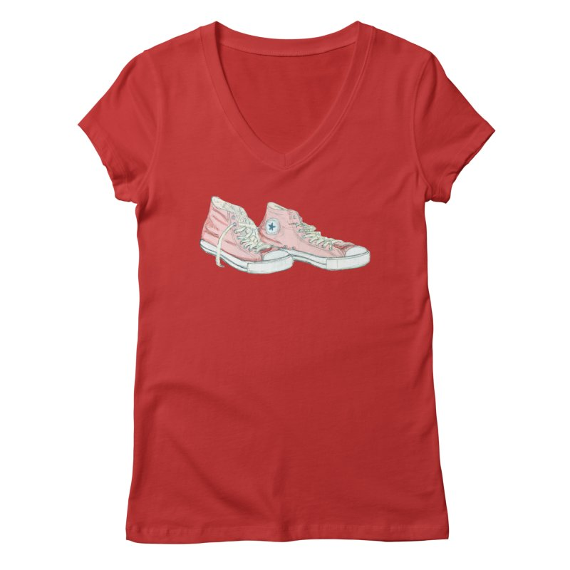 All Star Women's Regular V-Neck by hrbr's Artist Shop