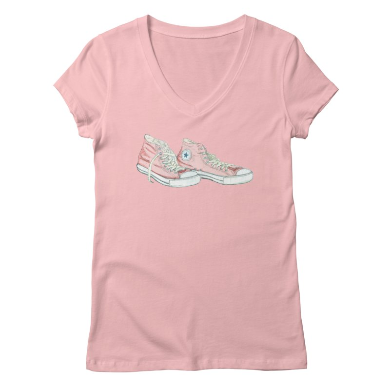 All Star Women's V-Neck by hrbr's Artist Shop