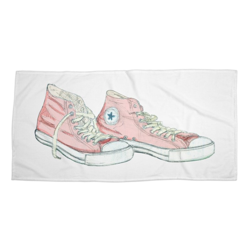 All Star Accessories Beach Towel by hrbr's Artist Shop