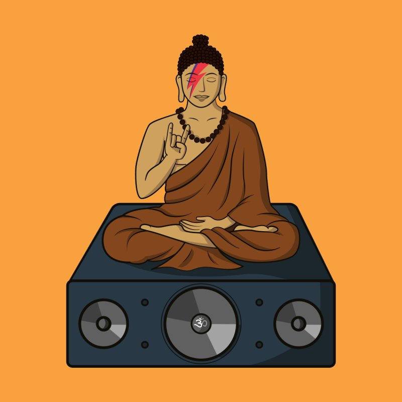 Rockin' Buddha Home Fine Art Print by Hristo's Shop