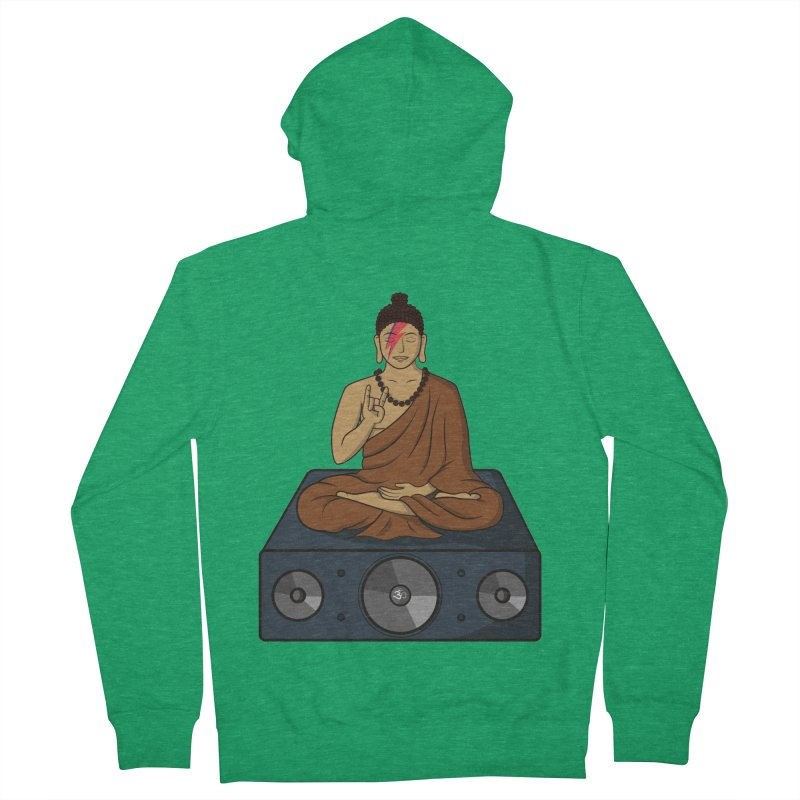 Rockin' Buddha Men's Zip-Up Hoody by hristodonev's Artist Shop