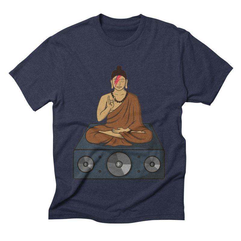 Rockin' Buddha Men's Triblend T-shirt by hristodonev's Artist Shop