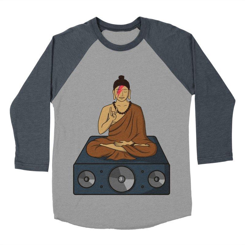 Rockin' Buddha Women's Baseball Triblend Longsleeve T-Shirt by Hristo's Shop