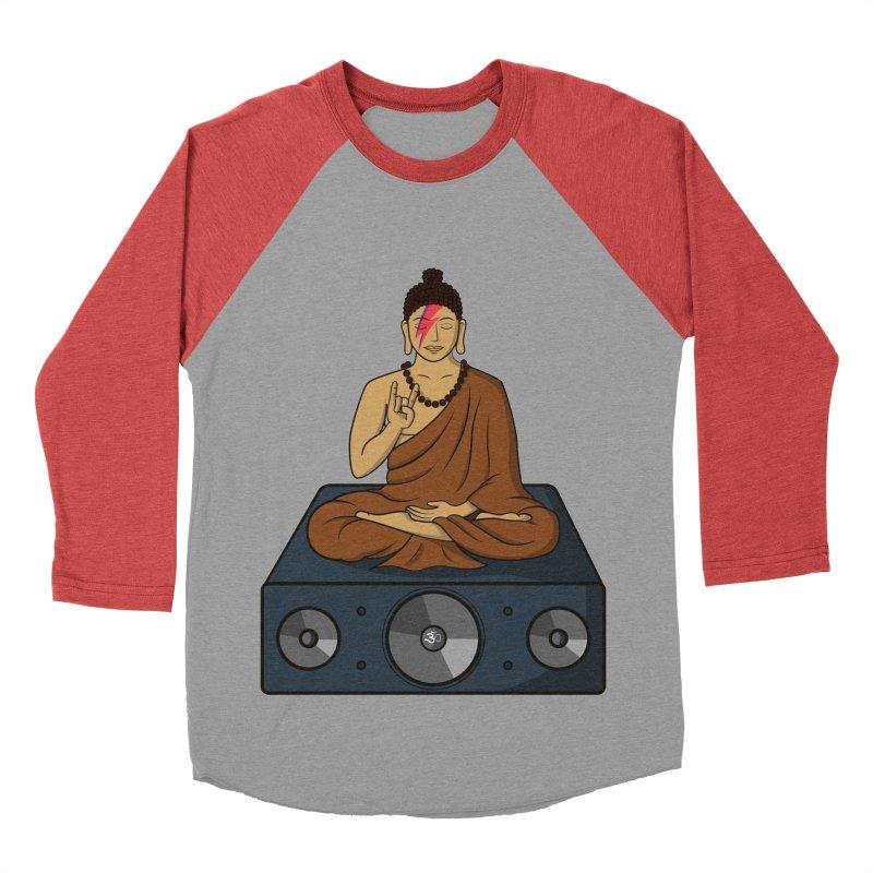 Rockin' Buddha Men's Baseball Triblend T-Shirt by hristodonev's Artist Shop