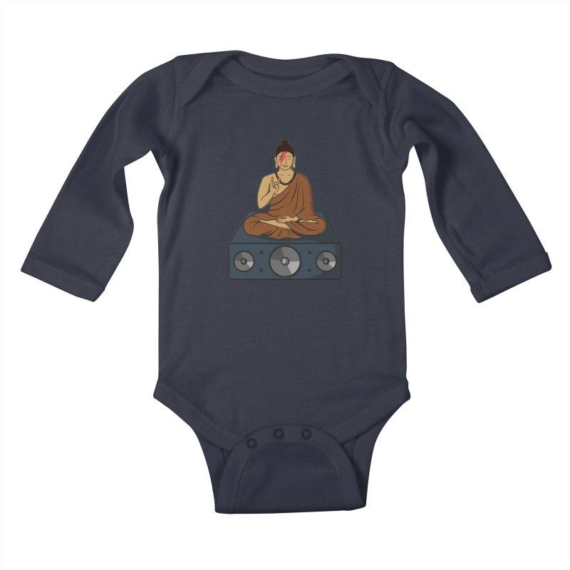 Rockin' Buddha Kids Baby Longsleeve Bodysuit by hristodonev's Artist Shop