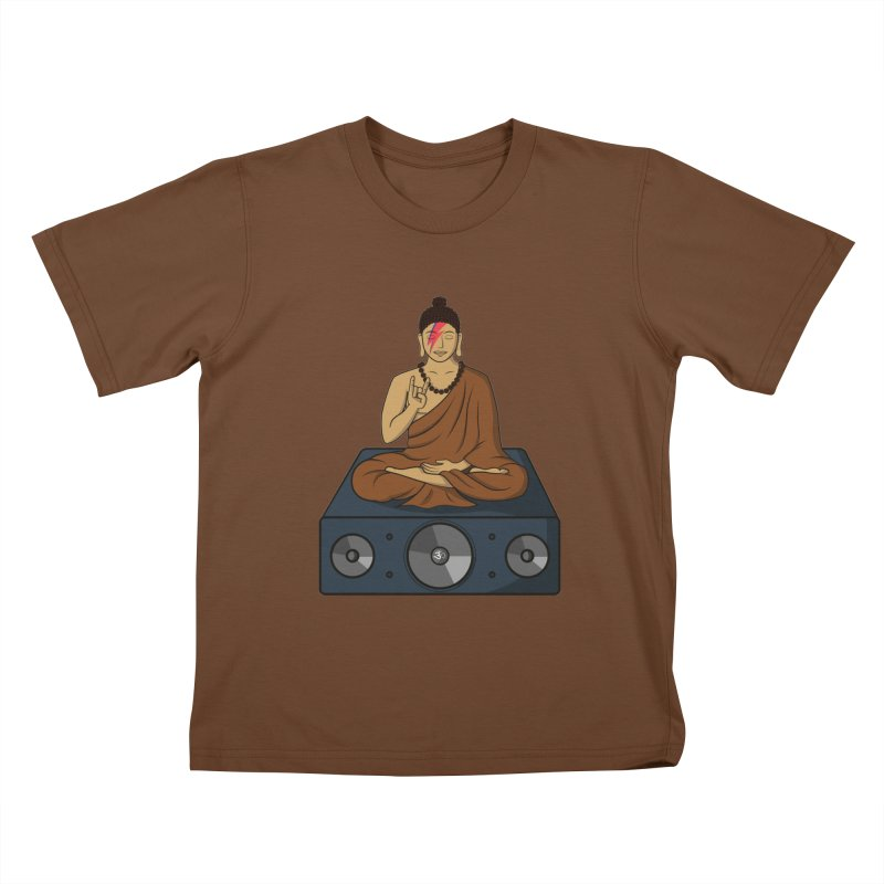 Rockin' Buddha Kids T-shirt by hristodonev's Artist Shop