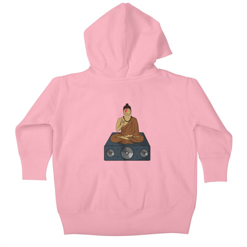 Rockin' Buddha Kids Baby Zip-Up Hoody by hristodonev's Artist Shop