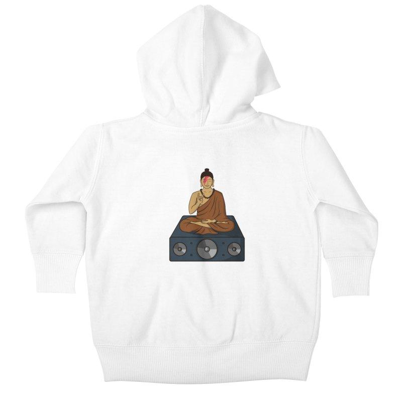 Rockin' Buddha Kids Baby Zip-Up Hoody by hristodonev's Artist Shop