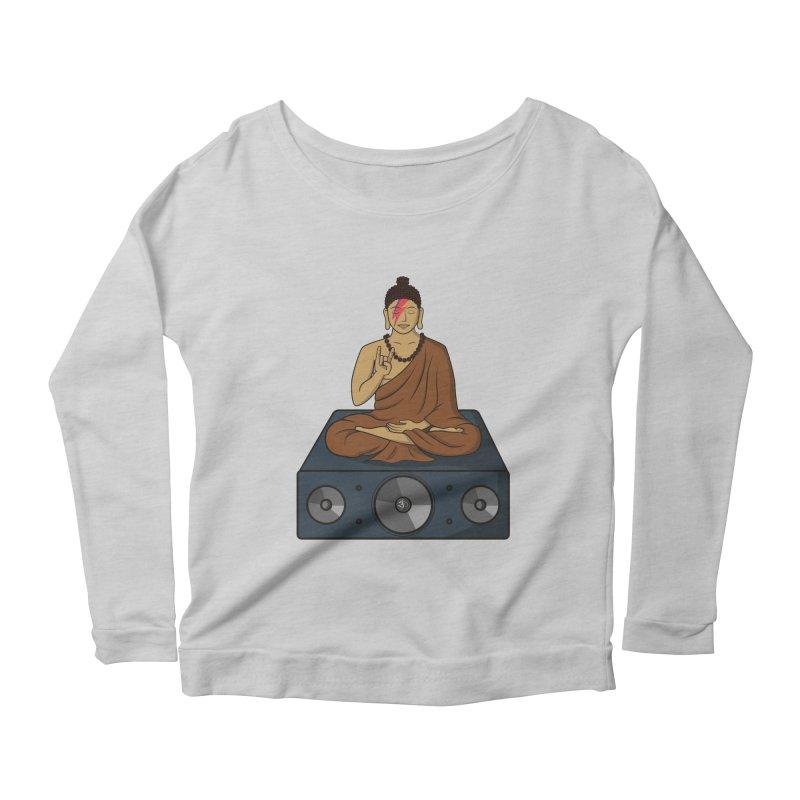 Rockin' Buddha Women's Longsleeve Scoopneck  by hristodonev's Artist Shop