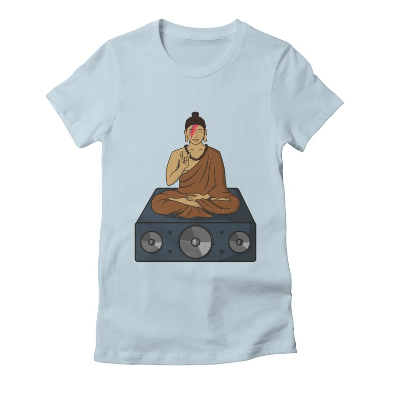 Rockin' Buddha Women's Fitted T-Shirt by hristodonev's Artist Shop