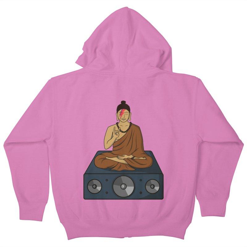 Rockin' Buddha Kids Zip-Up Hoody by hristodonev's Artist Shop