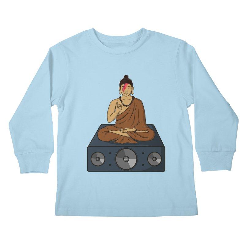 Rockin' Buddha Kids Longsleeve T-Shirt by hristodonev's Artist Shop