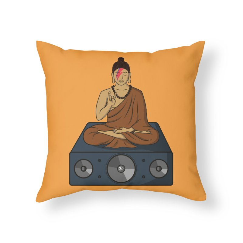 Rockin' Buddha Home Throw Pillow by Hristo's Shop